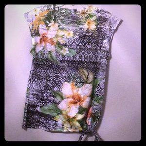 Floral shirt ready for summer.